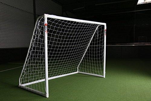 """Fußballtor 2,4 x 1,8m \""""PRO\"""" von POWERSHOT® Super stabiles uPVC und Super Design,WETTERFEST, Mit Klicksystem und wählbarem Zubehör (TOR)"""