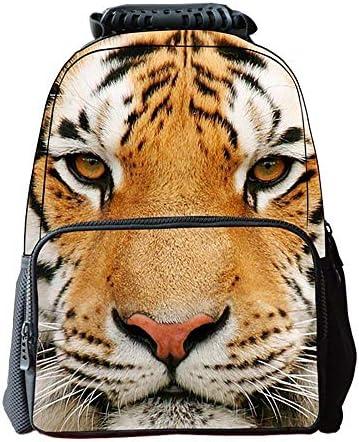 Lounayy Mignon Cartable    s Loisirs Imprimer Unisexe École Sac À Dos Sac Étudiant 3D  s Sac À Dos Tigre Animal Chat | Magasiner  252f6a