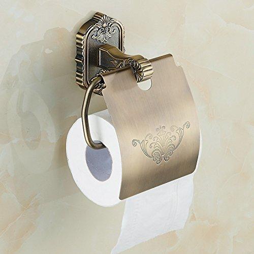 Diongrdk Bronze Frame Papier Vert, De Style Européen Du Tambour Antique De Haute Qualité, Support À Serviettes Papier Carve Bronze, Porte-Papier Toilette