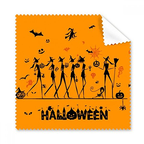 Halloween Lange Sie die Beine Hexe Cartoon Brille Reinigungstuch Reinigungstuch Geschenk Handy-Display von 5 x (Halloween Cartoon Besen)