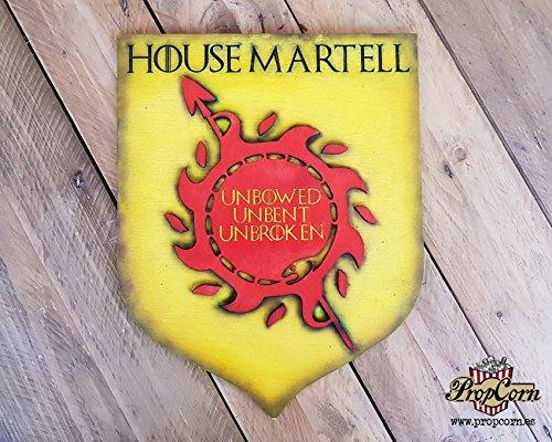 Martell House, Siegel von Game of Thrones. Ungebeugt ungebogen ungebrochen. Oberyn Martell, die Rote Viper, San Snakes von Dorne. Nymeria. Asoiaf