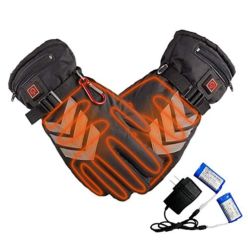 Beheizte Handschuhe Beheizbare Handschuhe DREI Geschwindigkeit Thermostat Lithium Batterie Angetrieben Wasserdicht Isoliert Reflektierend Elektrisch Heizung Handschuhe Motorrad
