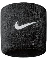 Nike - Paire bracelets-éponge tennis, squash, badminton logo swoosh - Noir, Taille unique