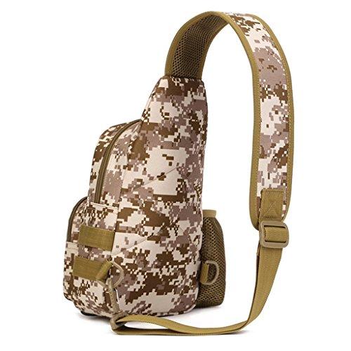 Tactical Sling petto zaino militare borsa a tracolla Crossbody Pack per caccia campeggio trekking, ACU Digital Desert Digital