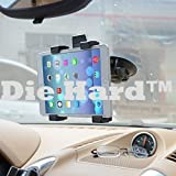 G Full Rotating Strong Suction Cup Adjustable Tablet and Cradle Stand Mount Holder for Windshield/Dashboard, 7 to 10 Inch (Black)