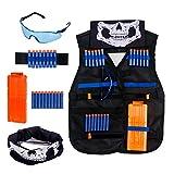 Krisvie Gilet tattico per Nerf N-Strike Serie Elite, Tactical Vest Gilet Tattico Giubbotti per Bambini Kit da Giubbotto tattico del Jungle Capretti la Serie di Elite N-Strike Giocattolo di Nerf