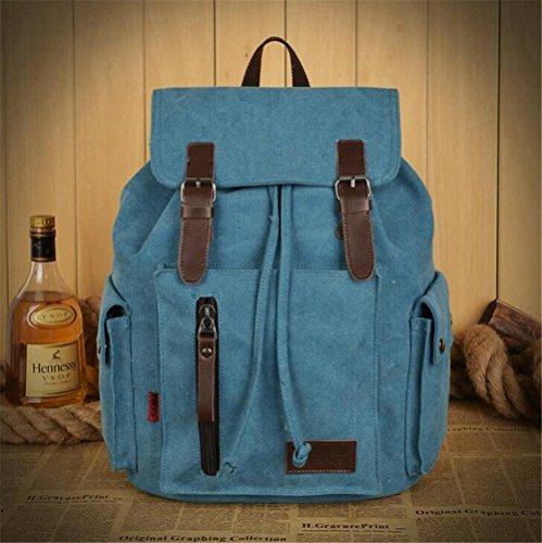 Wmshpeds Moda viaggio di piacere nello zaino tela impermeabile borsa donna borsa a tracolla in tela britannico piccola borsa a tracolla versione coreana della marea A