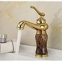 sbwylt-high-grade naturale giada e rame rubinetto, Rubinetti rubinetto lavabo oro