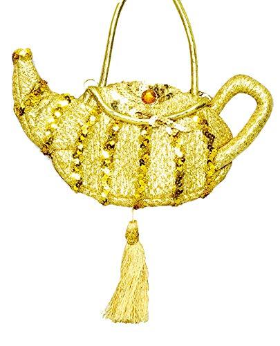 Handtasche Wunderlampe zum Märchen Kostüm 1001 Nacht - Gold - Karneval Mottoparty JGA ()
