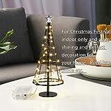 Sankt Baum, künstlicher Mini Sankt Baum mit Deckel-Stern, Bäume mit flacher Platte und Batterie-Haus draußen für Innen-, Tisch-Lampe u. Nizza Dekorationen für Ihre Räume, schwarz