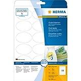 Herma 4358 Universal-Etiketten (A4 oval Movables/ablösbar Papier matt, 63,5 x 42,3 mm) 450 Stück weiß
