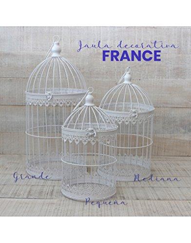 Jaula decorativa de metal para decoración - Diseño elegante France - Modelo Hansel y Gretel - Hogar y Mas - Grande
