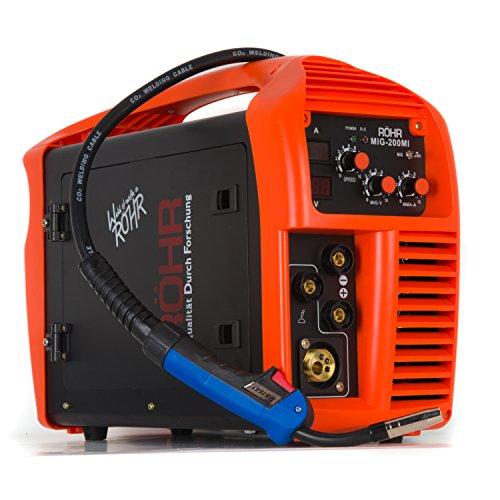 Röhr - Poste à souder MIG-200MI - 3 en 1 - MIG/onduleur MMA - avec/sans gaz - technologie IGBT - 240 V - 200 A DC