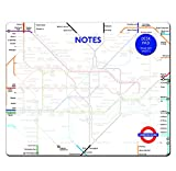 Robert Frederick London Underground Tear Off Desk Pad, Assorted