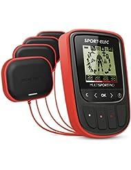 Sport-Elec Multisport Pro Nuevo con cinturón abdominal ergonómico - Electroestimulador, para mixto, Rojo, Unitalla