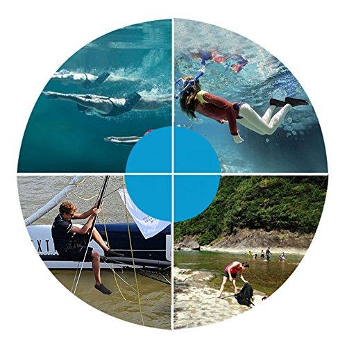 SAGUARO Badeschuhe Strandschuhe Aquaschuhe Wasserschuhe Schwimmschuhe Surfschuhe für Damen Herren Kinder Schwarz