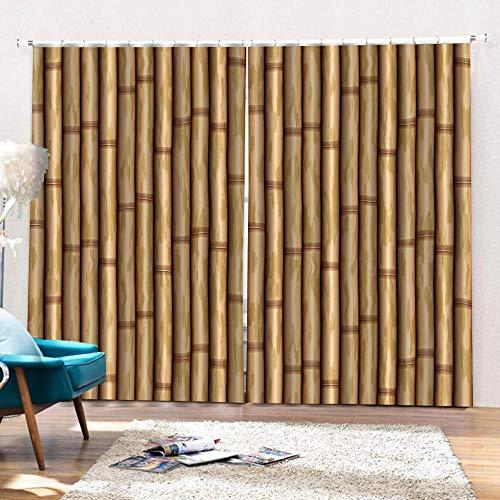 3D Isolierung Schattierung Vorhänge Bambusvorhang 2 Panel fit Kinder Vorhänge Für Wohnzimmer Schlafzimmer Blackout Kinderzimmer Vorhänge 220x215cm