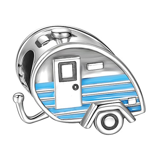Soufeel Reise Charm Blau Trailer Wagen 925 Sterling Silber Charms Beads für Frauen