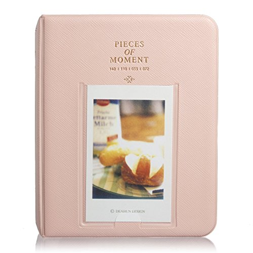 Jellbaby 64-Pockets Mini Polaroid Foto Album Zeit Fotos Foto Telefonbuch, Rose, 114*140*33mm -