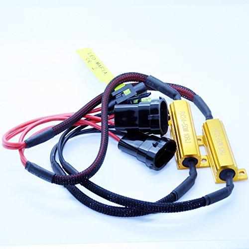 Preisvergleich Produktbild 2X H8 / H11 Lastwiderstände 50 Watt 10 Ohm- LED Widerstand Widerstände Keine Fehlermeldung