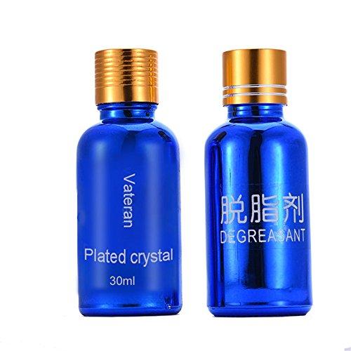 Vernis céramique pour voiture - Hautement brillant - Revêtement hydrophobe - 30 ml - Nettoyant scellant - Protection brillante Liquid coating+degreasing agent
