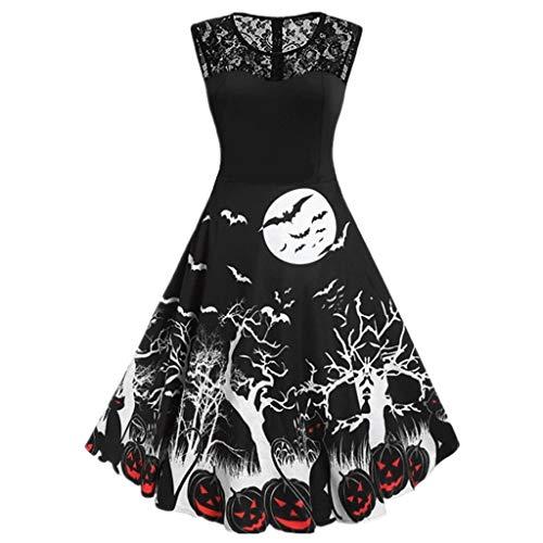 Spider Kostüm Kleid Erwachsene Web Für - ZYJT Halloween Dame Halloween Scary Kostüm Spider Web Print Ärmelloses Minikleid Retro Party Kostüm (Color : 01, Size : XXL)