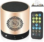 مكبر صوت محمول للقرآن مع مشغل MP3 بجهاز تحكم عن بعد 8 جيجابايت راديو TF إف إف إم مترجم القرآن قابل للشحن USB