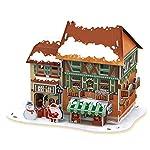Feliz Navidad 3D Puzzle Set entretenimiento 4 piezas un paquete (Naranja (1) techo con Led interior)