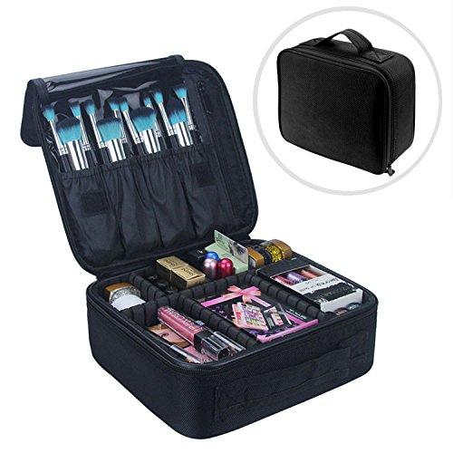 Make-up-Tasche, Vococal Cosmetic Bag Organizer - Make-up-Pinsel Etuis Tragbarer Aufbewahrungskoffer, Reisetasche für Kosmetikschmuck / Lippen- / Schattenpinsel