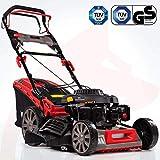 Rotfuchs Benzin Rasenmäher Selbstantrieb 5in1-Funktion GT-Markengetriebe 196ccm max. 4,4kW(6PS) 62L Grasfangkorb 51cm Schnittbreite Reinigungsfunktion