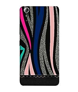 PrintVisa Multi Coloured Lines 3D Hard Polycarbonate Designer Back Case Cover for Lenovo A6000 Plus :: Lenovo A6000+ :: Lenovo A6000