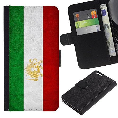 """Graphic4You Vintage Uralt Flagge Von Iran Iraner Design Brieftasche Leder Hülle Case Schutzhülle für Apple iPhone 6 Plus / 6S Plus (5.5"""") Iran Iraner"""