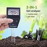 Yunt Probador de Suelo, Fertilidad de Planta 2 en 1 y Termómetro de pH para Uso en el hogar, jardín, césped, Granja, Interiores y Exteriores