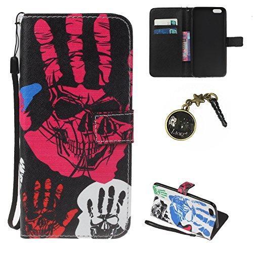 iPhone 6 Plus Hülle,iPhone 6 Plus case vintage ledertasche, Handy Schutzhülle für Apple iphone6 Plus (5.5 Zoll) Hülle Leder Wallet Tasche Flip Brieftasche Etui Schale (+Staubstecker) (4) 6