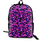 Personality Knapsack Disguise Water Resistant School Rucksack for Women Men