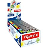Tipp-Ex Mini Pocket Mouse Fashion Korrekturroller in 4 stylischen Farben – Korrekturband 6 m x 5 mm – 10er Pack in praktischer Displaybox