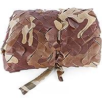 Shuzhen,2 x 3 M Woodland Carpa de Coche Militar Camuflaje Red Caza Camping Cubierta Sombrilla(Color:Desierto DE MARPAT)