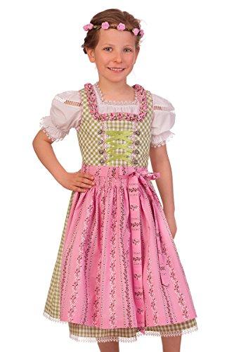M.Stützle Trachten Kinderdirndl 3tlg. - BABSI - apfelgrün, Größe 104