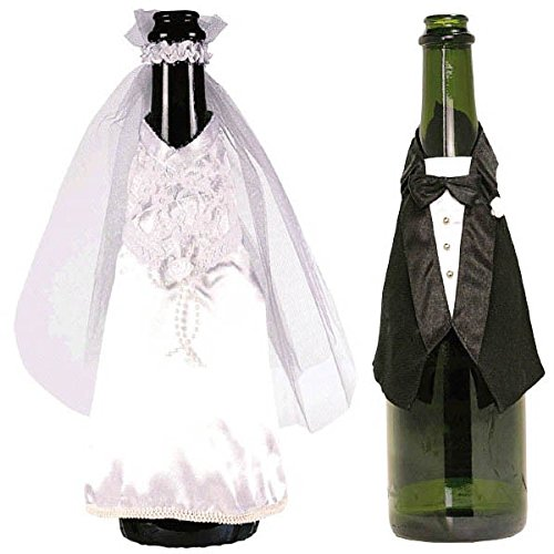 Amscan International Bride and Groom Champagne Bottle Wear