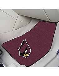 """Fan Mats 5663 NFL - Arizona Cardinals 18"""" x 27"""" Carpeted Car Mat Set by Fan Mats"""