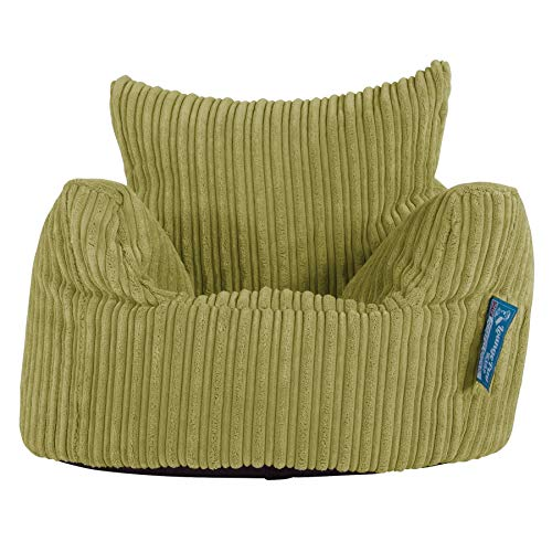 Lounge Pug®, Kindersessel Sitzsack, Sitzsack Kinder, Cord Hellgrün
