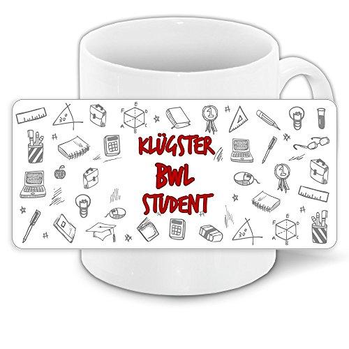 Tasse für-Studenten mit Motiv – Klügster BWL-Student – | Studenten-Geschenk | Studenten-Tasse