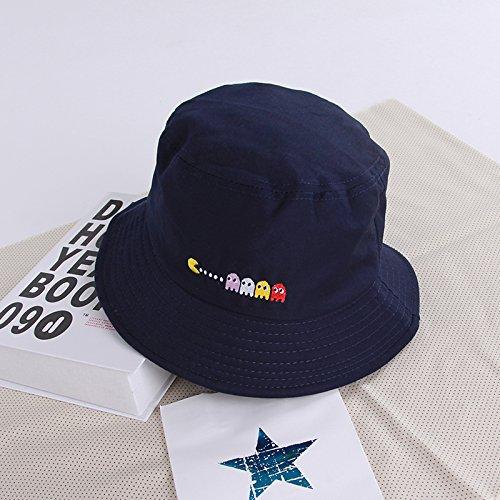 ZHANGYONG*Cap Bambini Estate fisherman marea hat visiera coppie in viaggio sunscreen bacino spiaggia cap cappelli e cappuccio, M (56-58cm) , blu navy