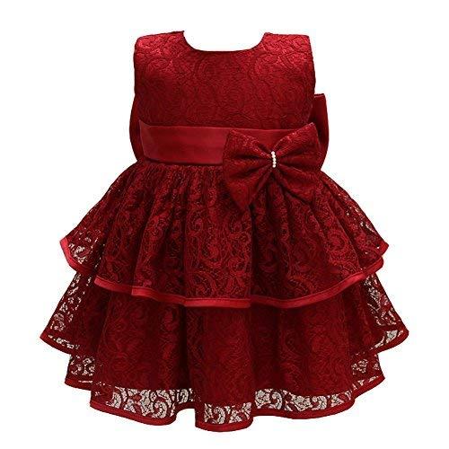 AHAHA Baby Mädchen Prinzessin Kleid Blumenmädchenkleid Taufkleid Festlich Kleid Hochzeit Partykleid Festzug Babybekleidung (Babys Kleider Festliche)