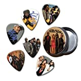 Black Eyed Peas Set of 6 Loose Guitar Médiators in Tin ( Collection E )