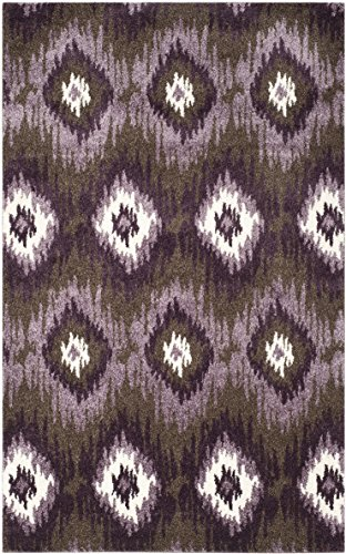tro Teppich, RET2143, Gewebter Polypropylen, Dunkelbraun / Aubergine, 160 x 230 cm ()