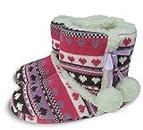 Slumberezz warm boot slippers pretty heart design for women (Medium 5-6, Multicolour)