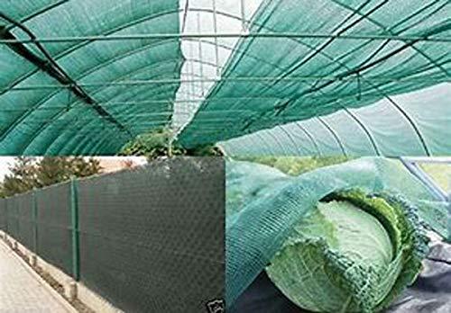 160g/m² 90% Zaunblende Schattierungsgewebe Bauzaunnetz Erntenetz Schattiernetz Sonnenschutznetz Sichtschutznetz für Garten Balkon Sportplatz Gelände Gewächshaus mit Klammer 1.8×2.4m