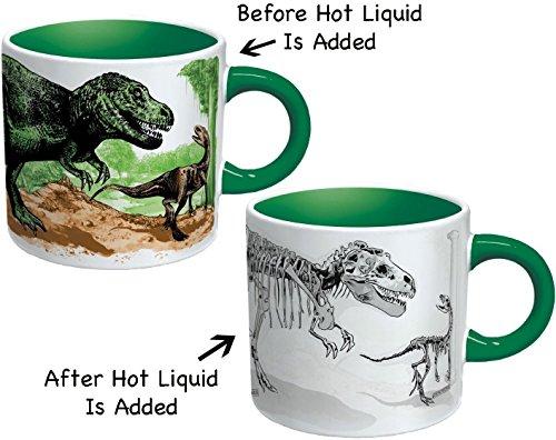 Taza de cafe Dinosaurio que desaparece