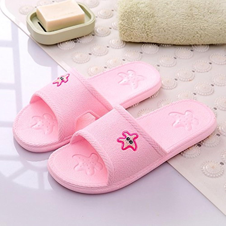 Cómodo Zapatillas femeninas Casa de verano cuarto de baño cuarto de baño antideslizante masaje zapatos Par de...